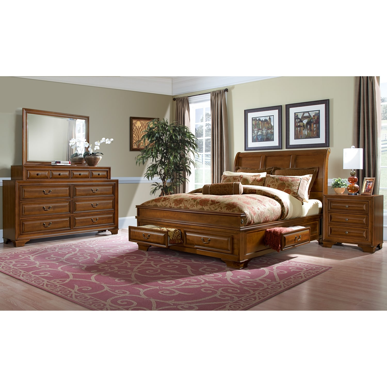 Bedroom Furniture - Sanibelle 6 Pc. King Storage Bedroom
