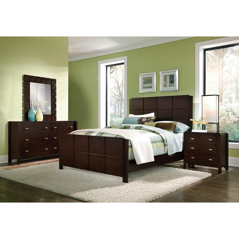 Mosaic 6-Piece Queen Bedroom Set - Dark Brown | American Signature ...