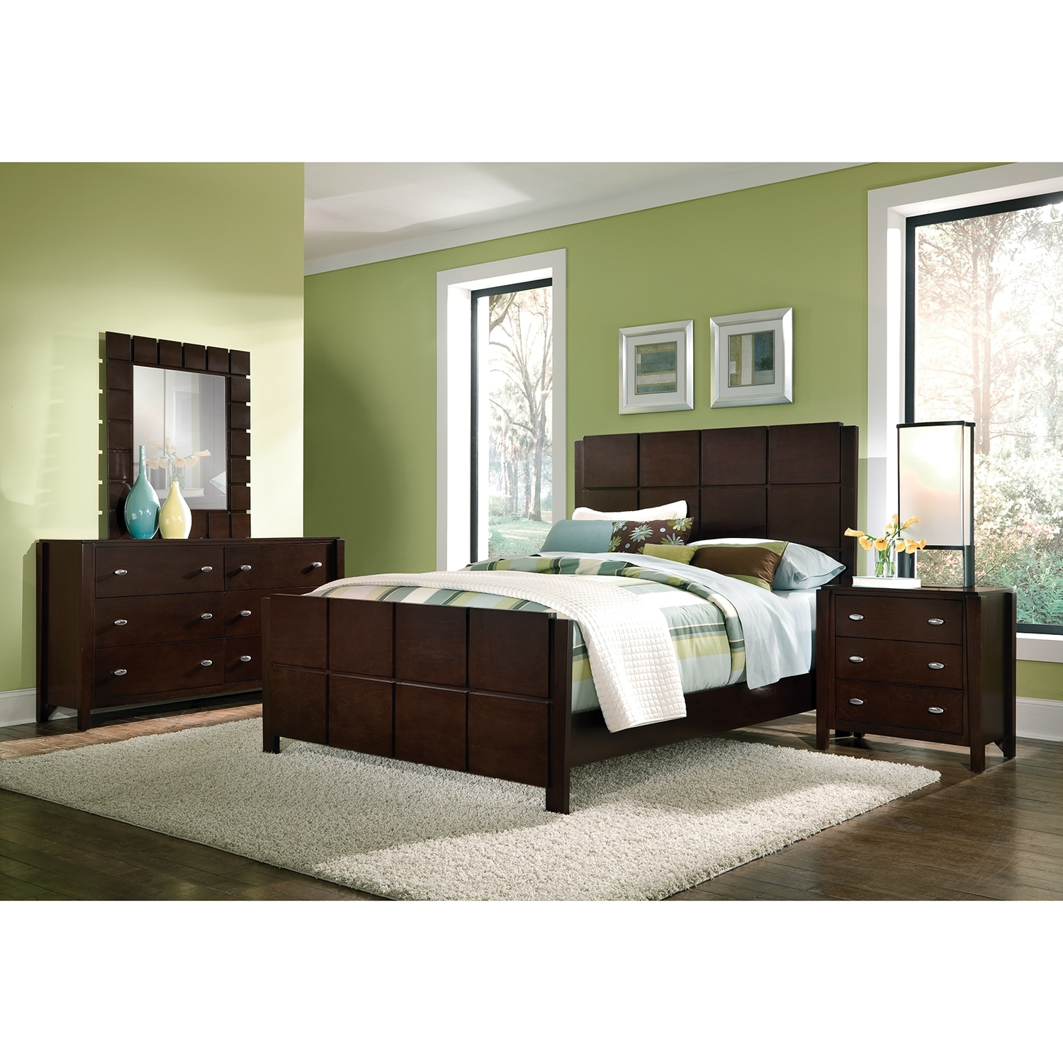 Bedroom Furniture - Mosaic 6 Pc. Queen Bedroom