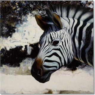 Zebra Revisited Canvas Print