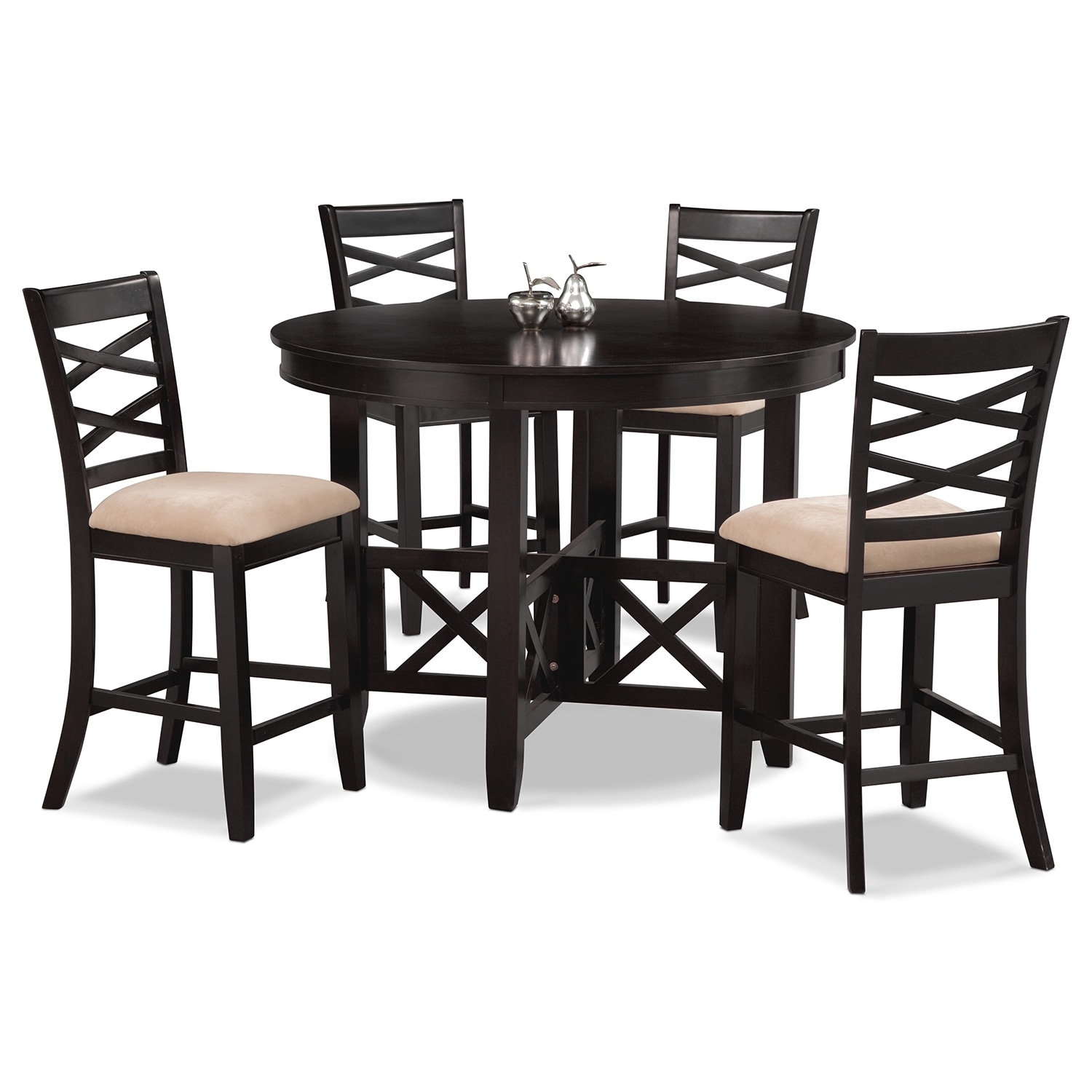 Dining Room Furniture - Americana Espresso 5 Pc. Counter-Height Dinette