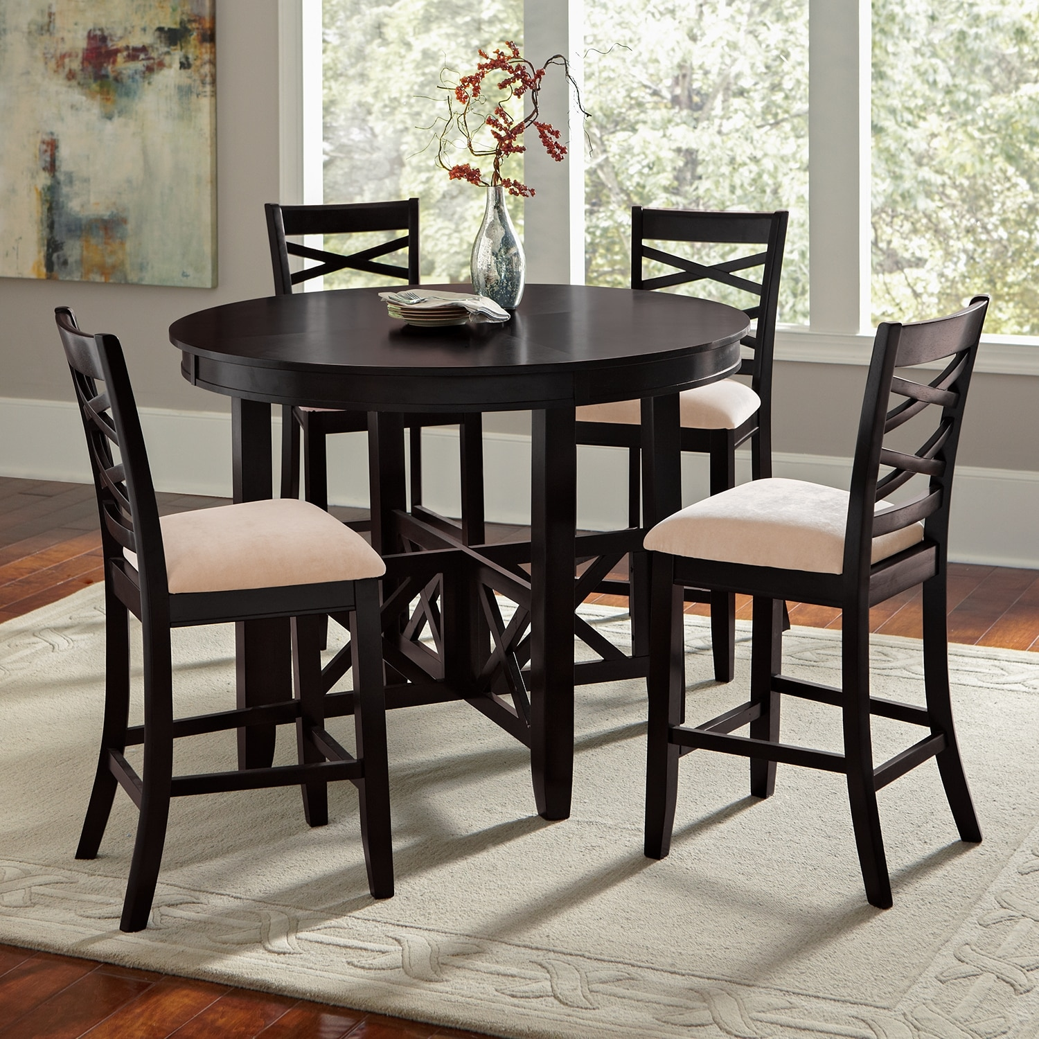 Americana Espresso Dining Room 5 Pc Counter Height