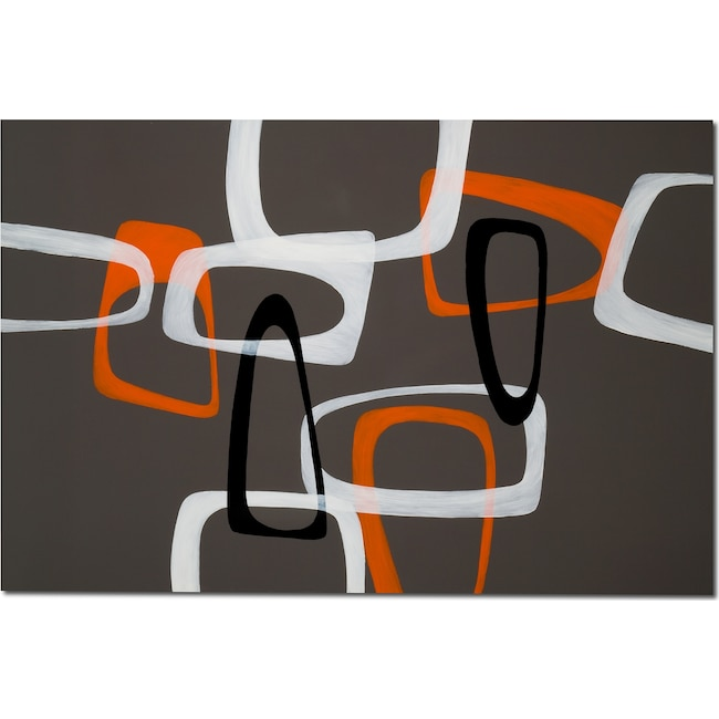 Home Accessories - Retro Shapes Canvas Print