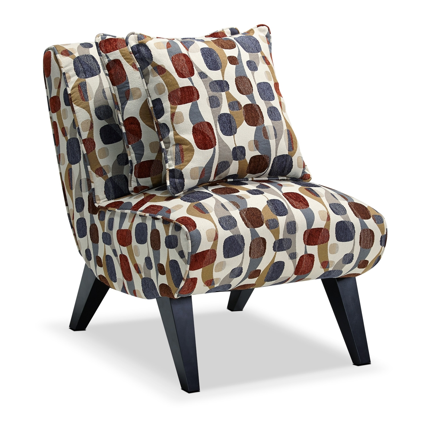 Living Room Furniture - Adrian Accent Chair - Geometric