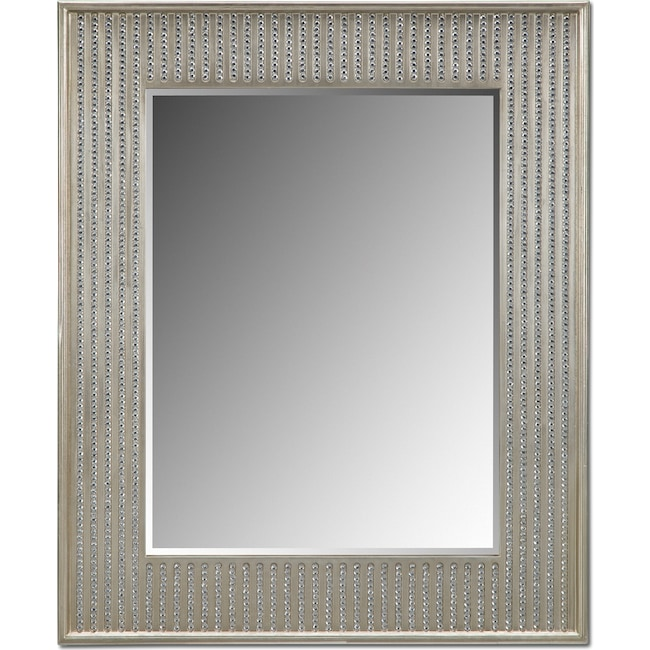 Accent and Occasional Furniture - Bling Glam Wall Mirror - Champagne