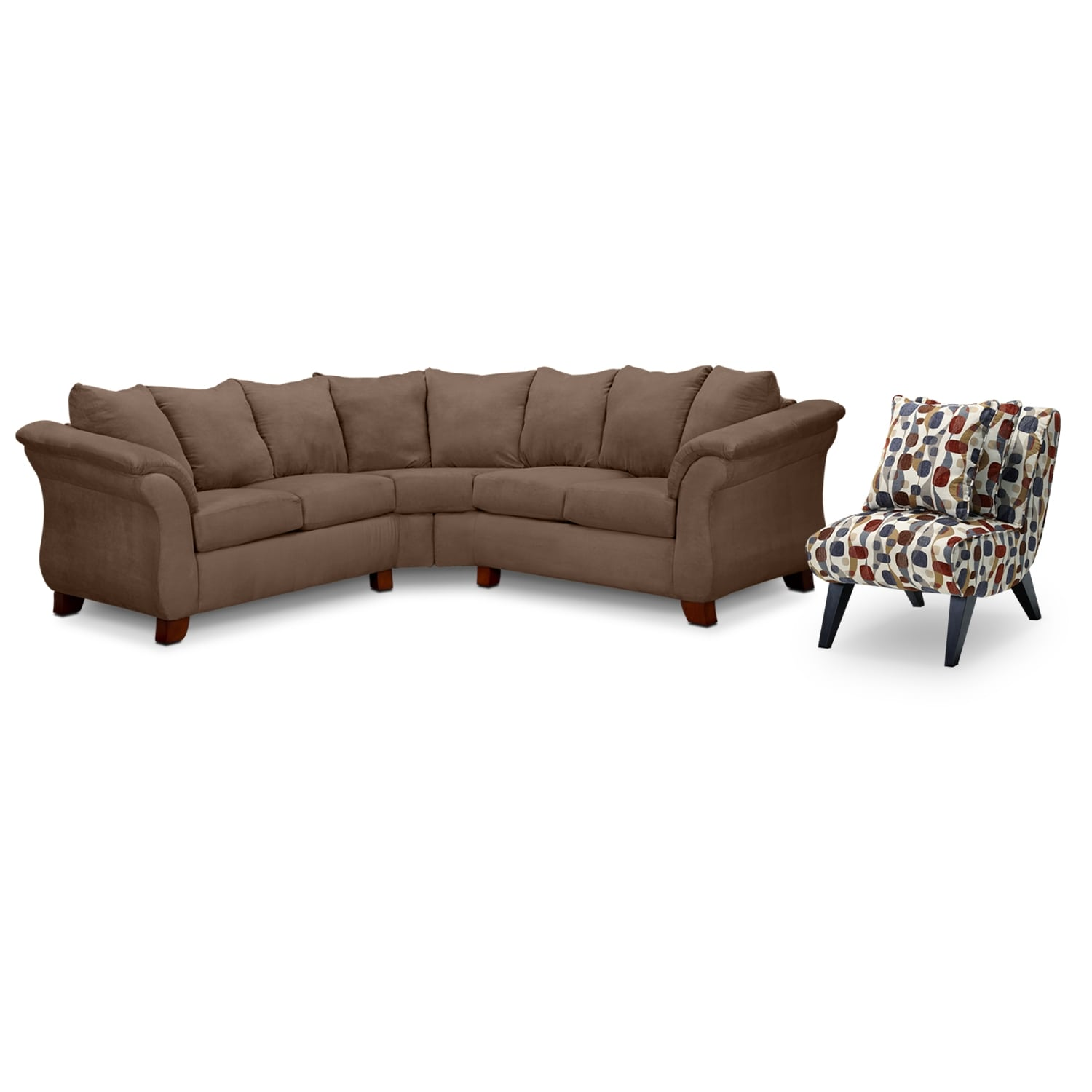 Click to change image.  sc 1 st  American Signature Furniture : taupe sectional - Sectionals, Sofas & Couches