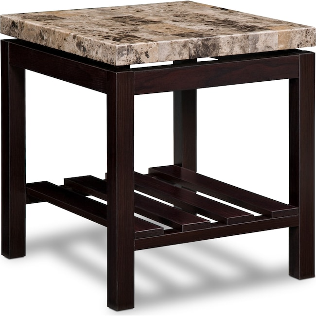 Accent and Occasional Furniture - Audra End Table - Merlot