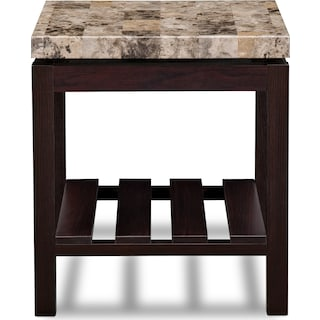 Audra End Table - Merlot