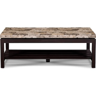 Audra Coffee Table - Merlot