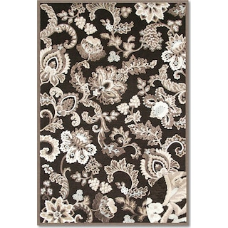The Napa Floral Collection - Dark Brown and Ivory