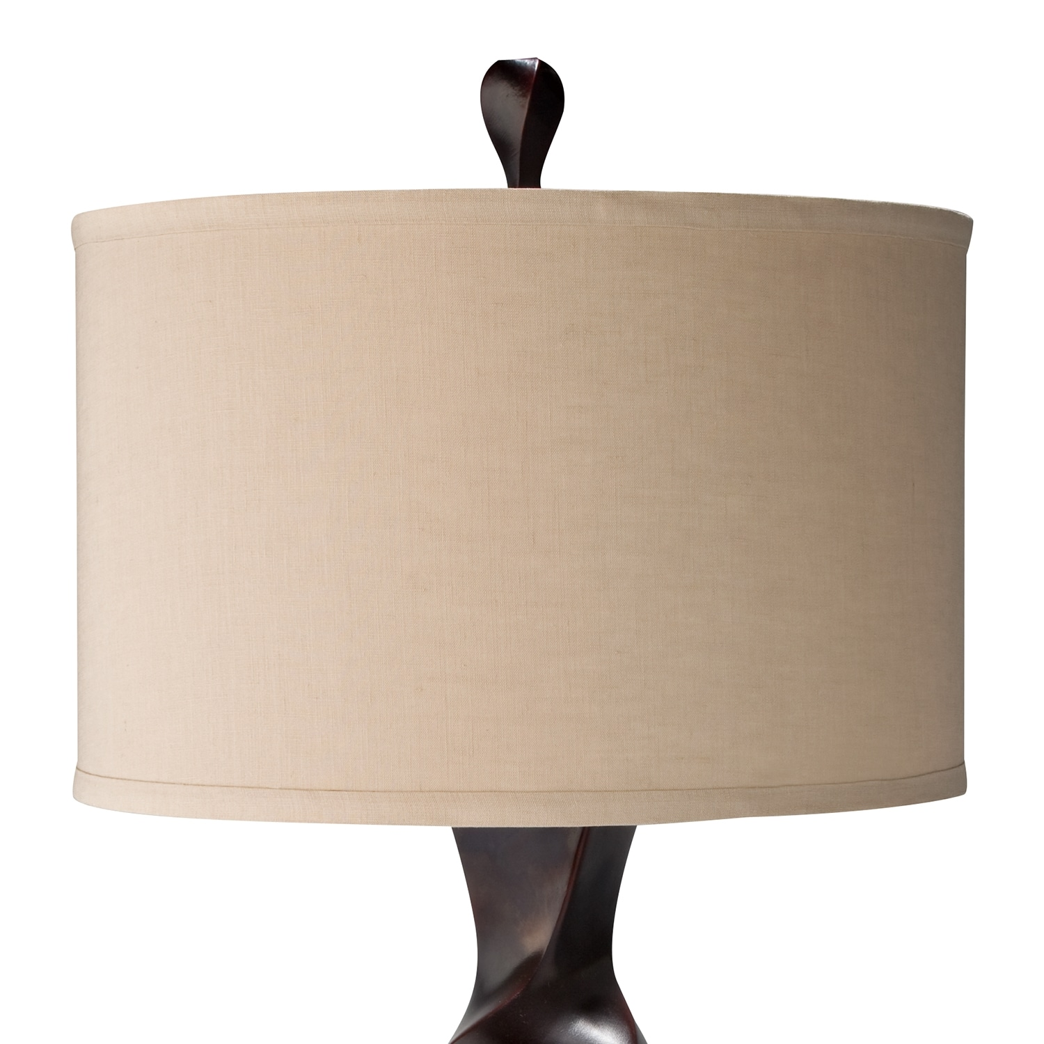 Brown twist table lamp american signature furniture click to change image aloadofball Images