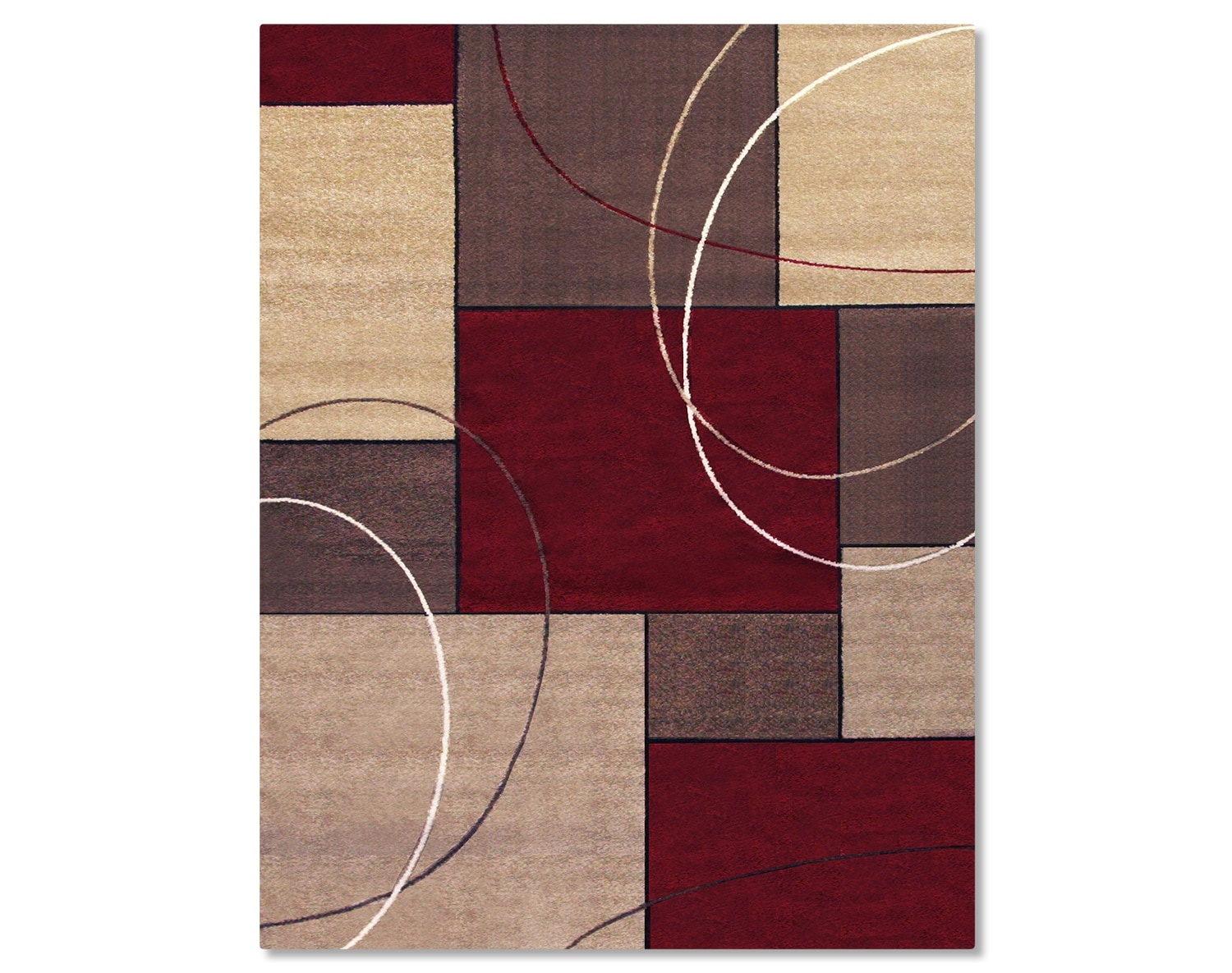 The Casa Circles and Squares Collection - Brown and Beige