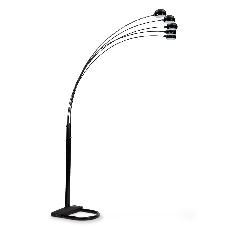 Home Accessories - Black Arc Floor Lamp
