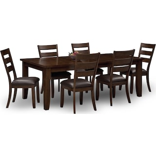 Abaco Table and 6 Chairs - Brown