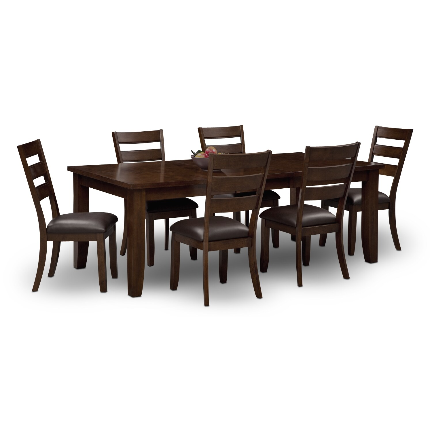 Dining Room Furniture   Abaco Table And 6 Chairs   Brown