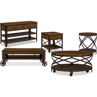 The Shortline Collection - Distressed Pine