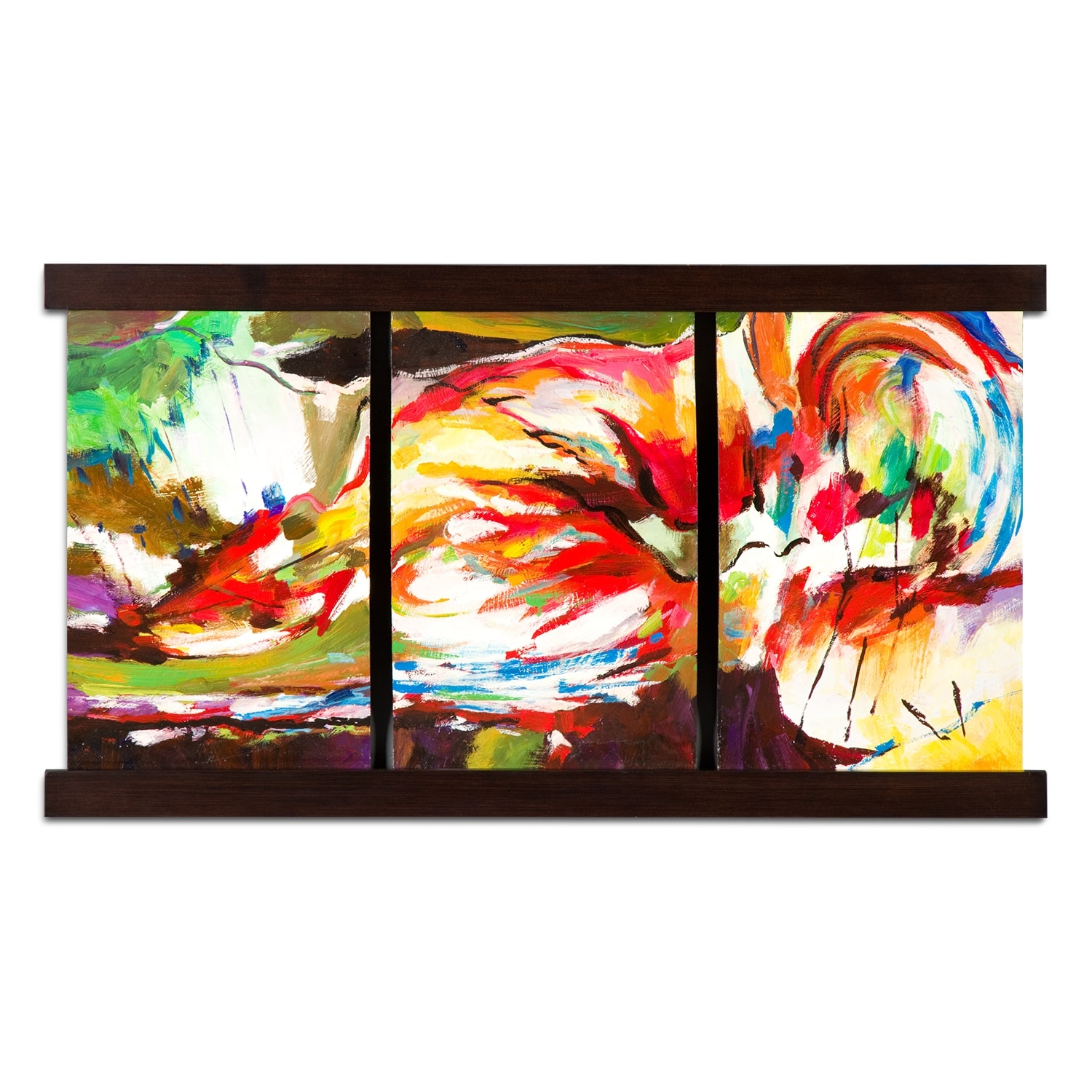 Home Accessories - Bent Colors Mixed Media Painting