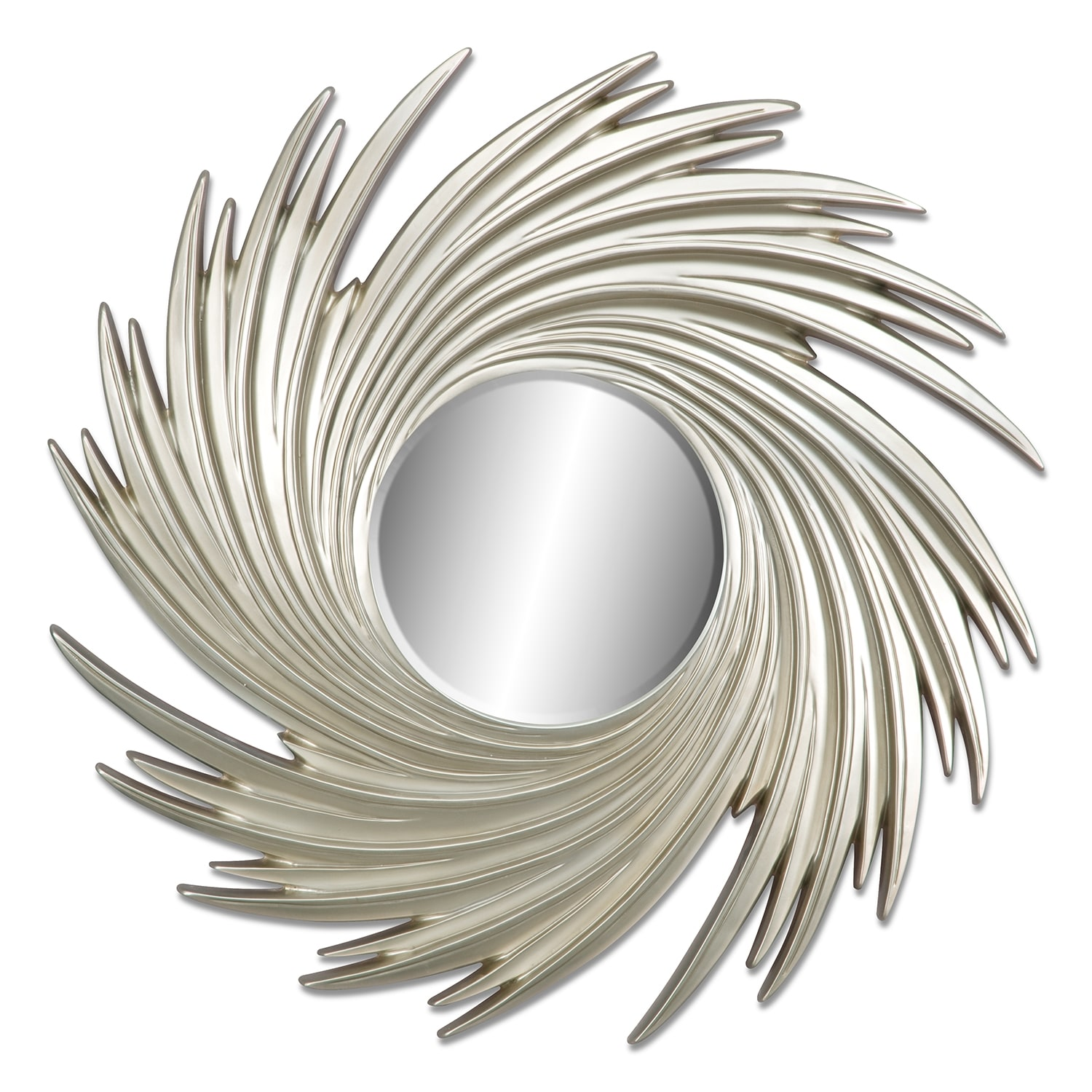 Home Accessories - Gold Swirl Mirror