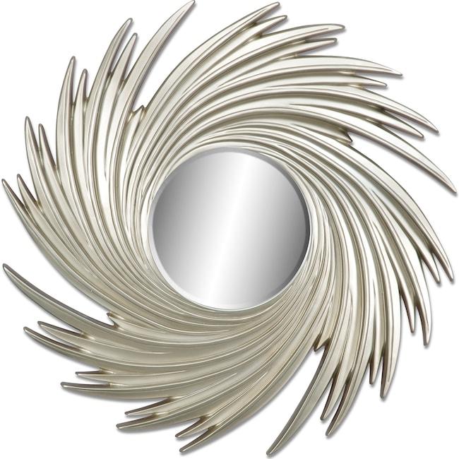 Home Accessories - Gold Swirl Mirror