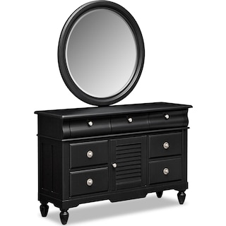 Seaside Dresser and Mirror - Black