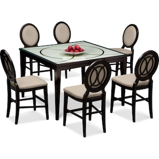 Cosmo Counter-Height Dining Table and 6 Dining Chairs