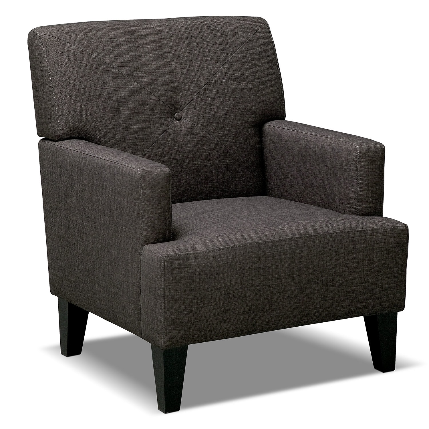 Accent and Occasional Furniture - Avalon Accent Chair - Charcoal