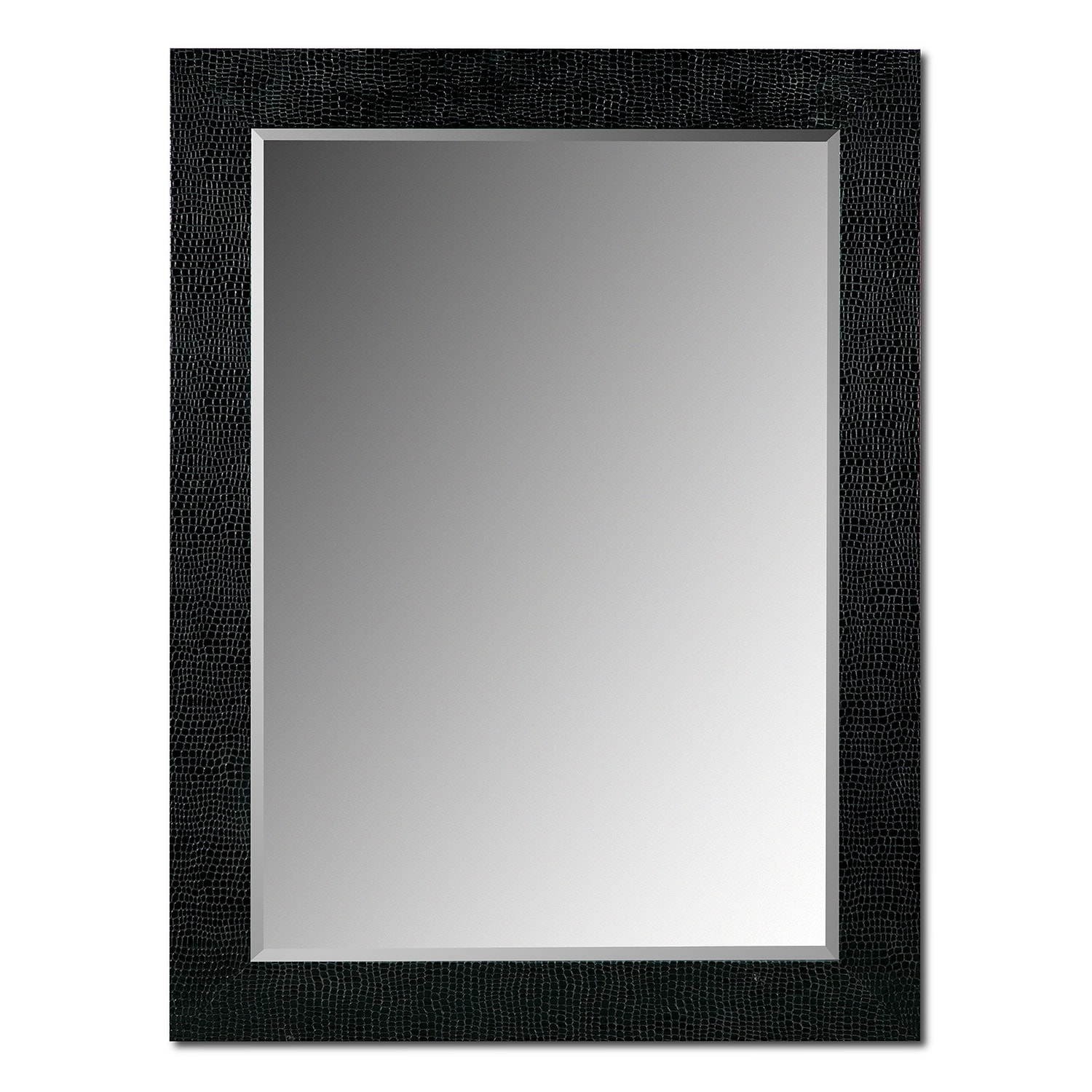 Accent and Occasional Furniture - Croc Mirror - Black