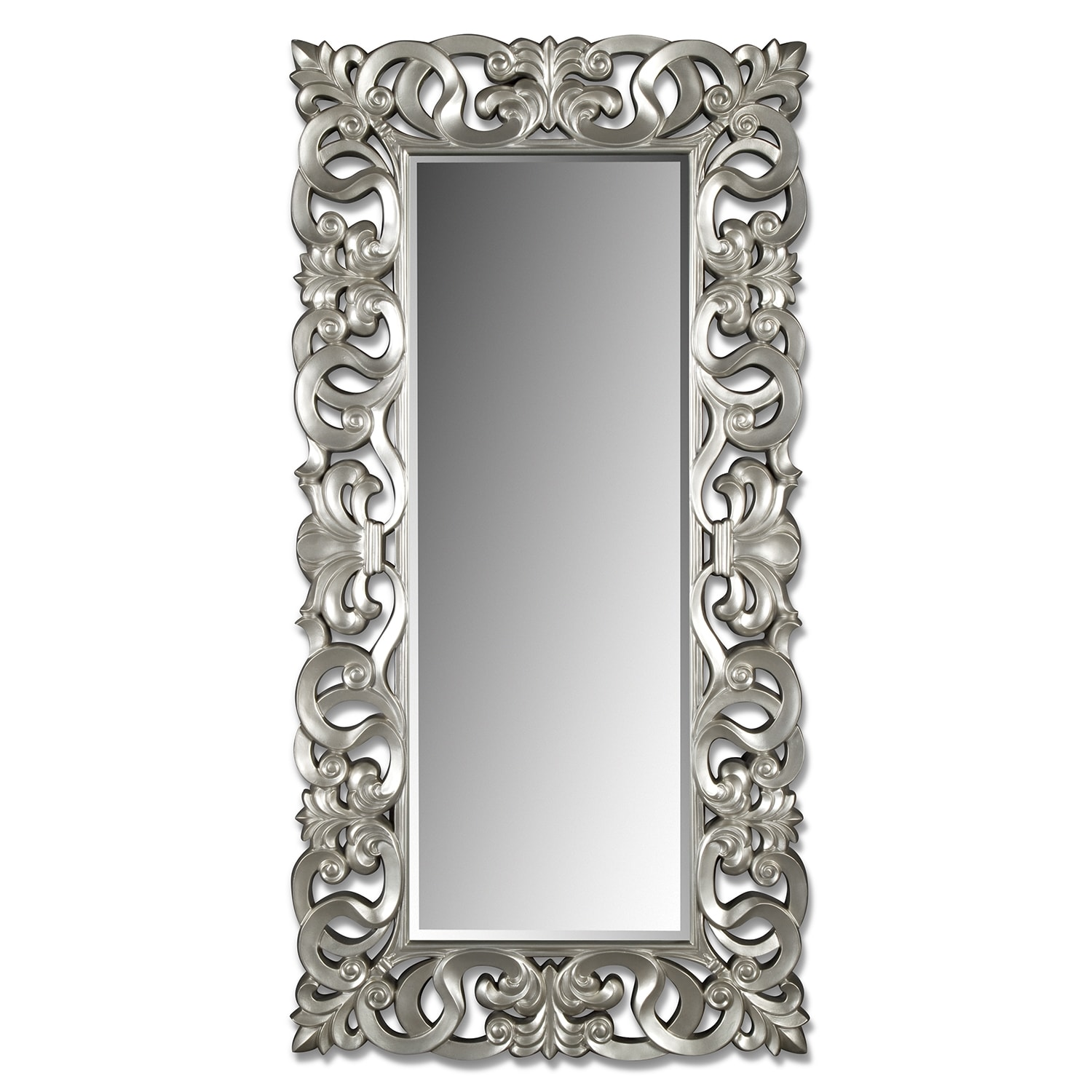 Home Accessories - Silver Scroll Mirror