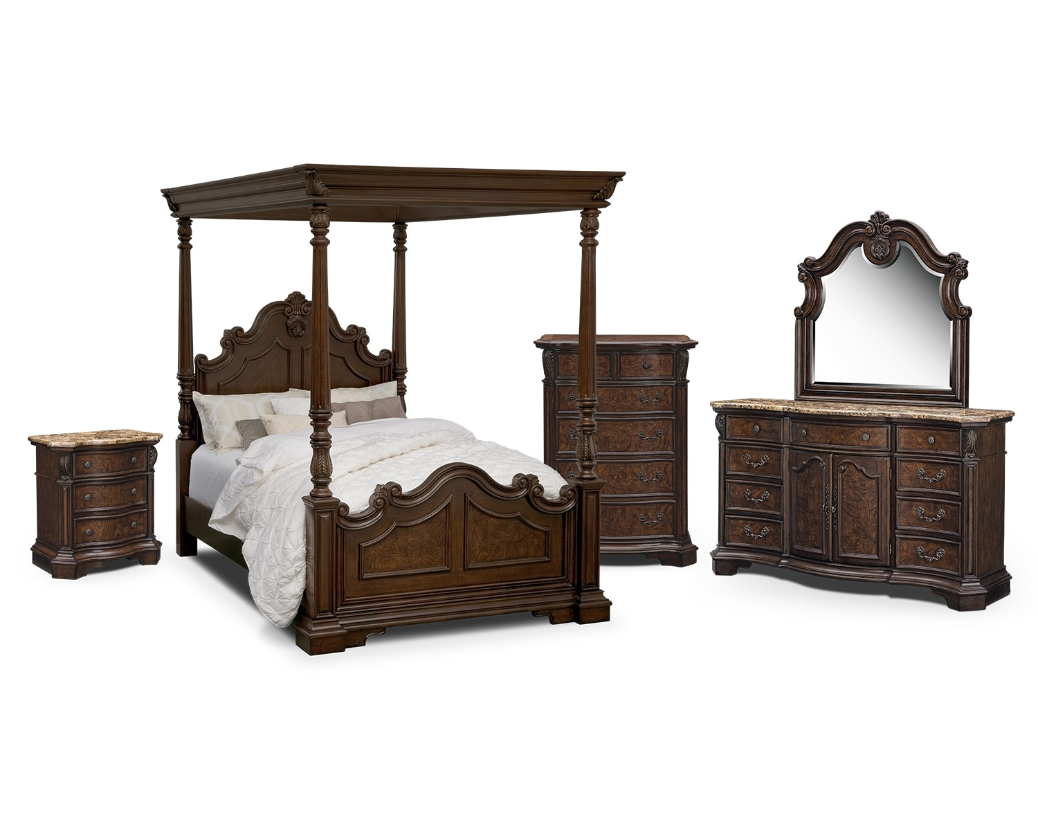 the monticello sleigh bedroom collection pecan by pulaski