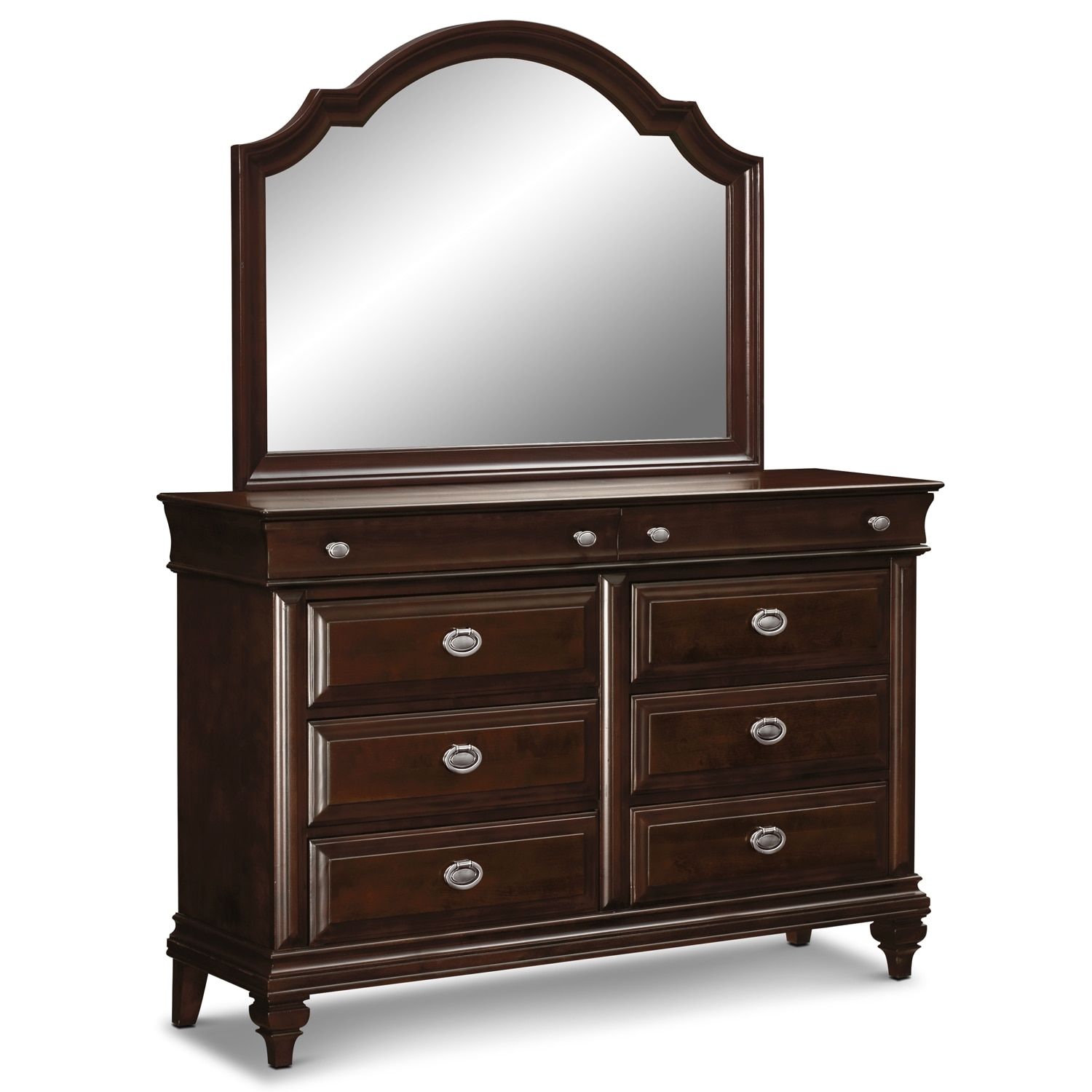 Bedroom Furniture - Manhattan Dresser and Mirror - Cherry