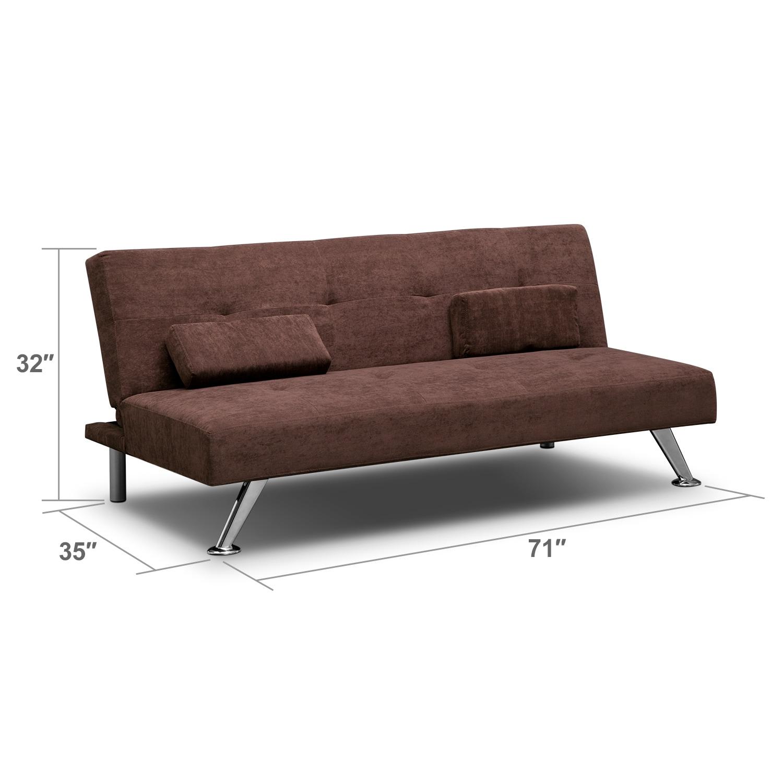 Living Room Furniture - Marlene Futon Sofa Bed