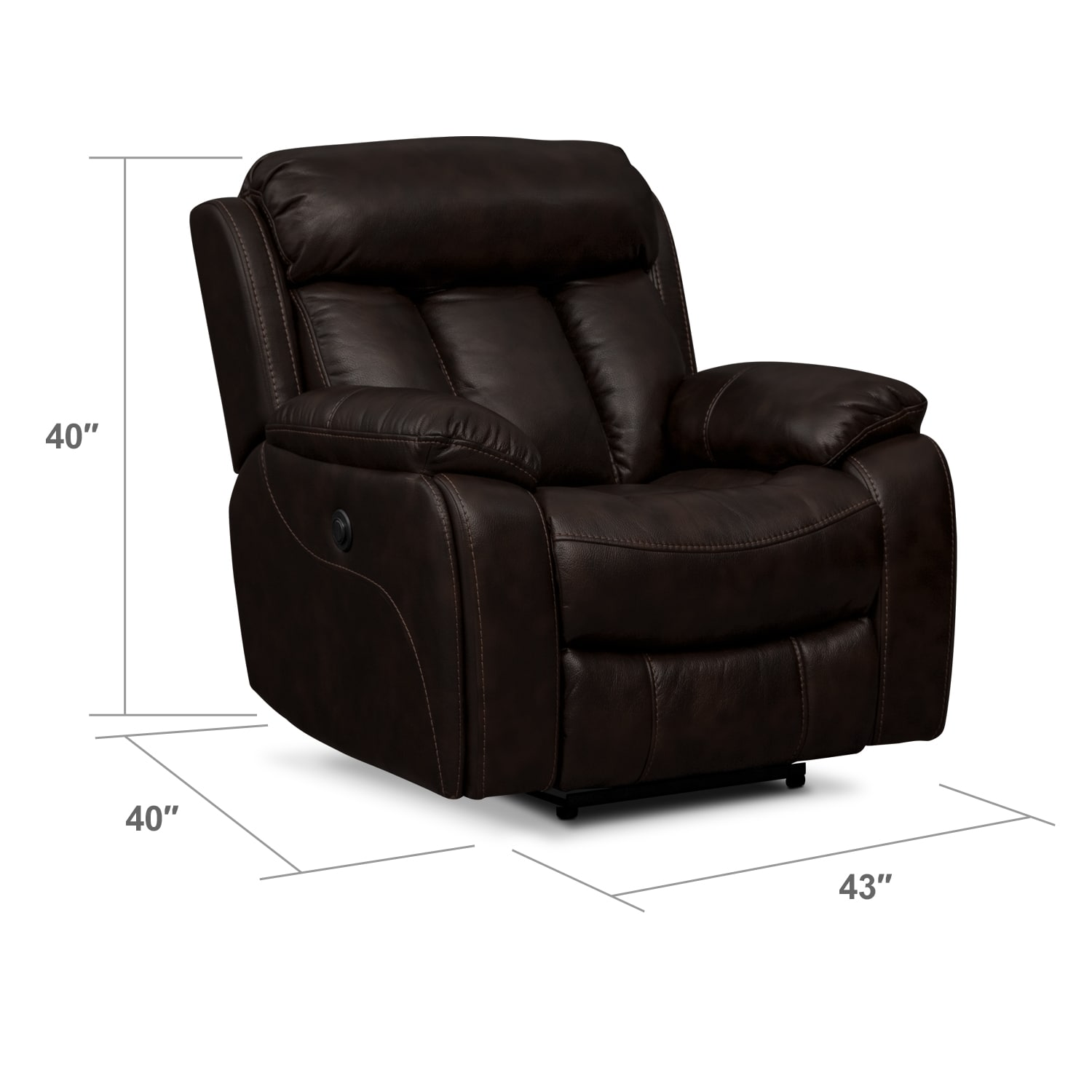 Living Room Furniture - Diablo II Power Recliner