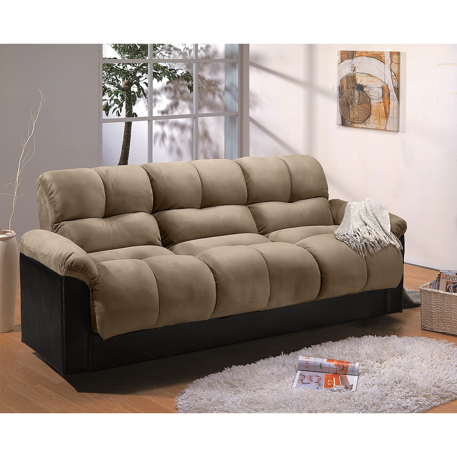 Ara Futon Sofa Bed with Storage Hazelnut