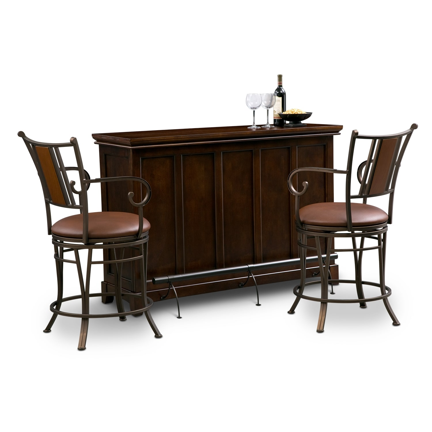 Accent and Occasional Furniture - Carlton Camden 3 Pc. Bar Set
