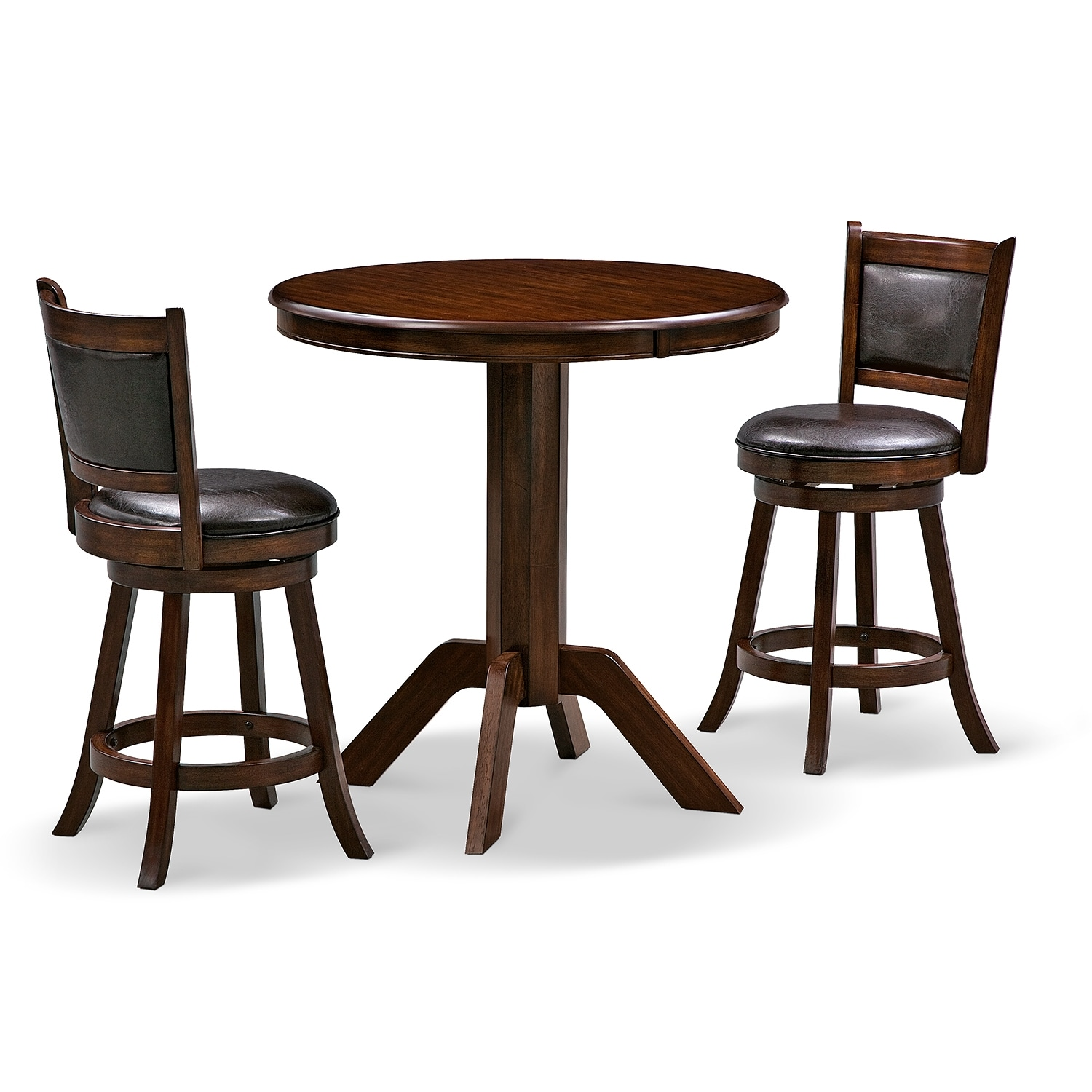 Dining Room Furniture - Concord Everly 3 Pc. Counter-Height Dinette