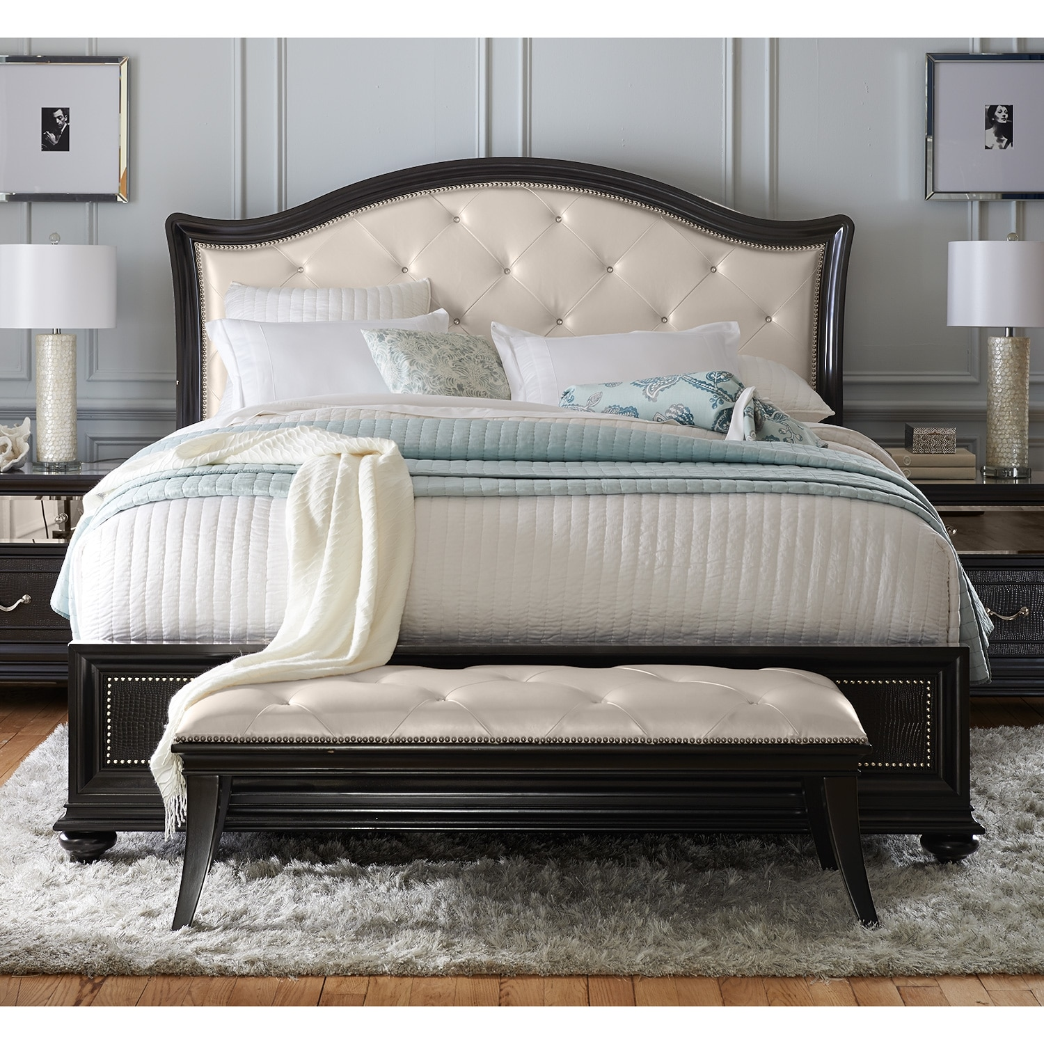 Pulaski Bedroom Furniture Marilyn Queen Bed Ebony American Signature Furniture
