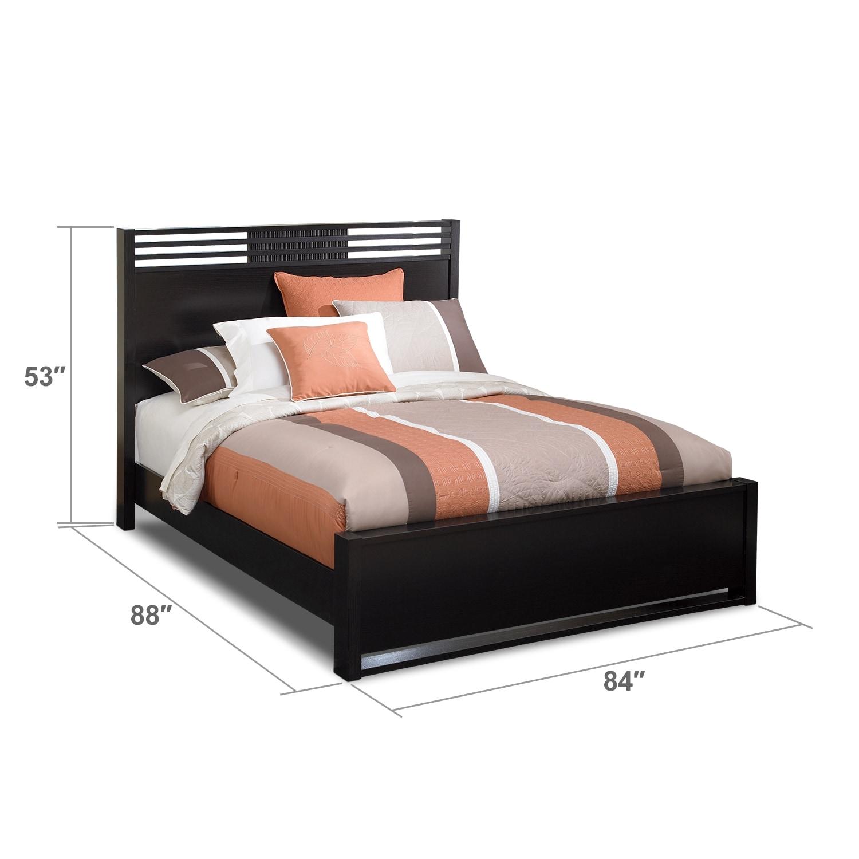 Bedroom Furniture - Bally King Bed - Espresso