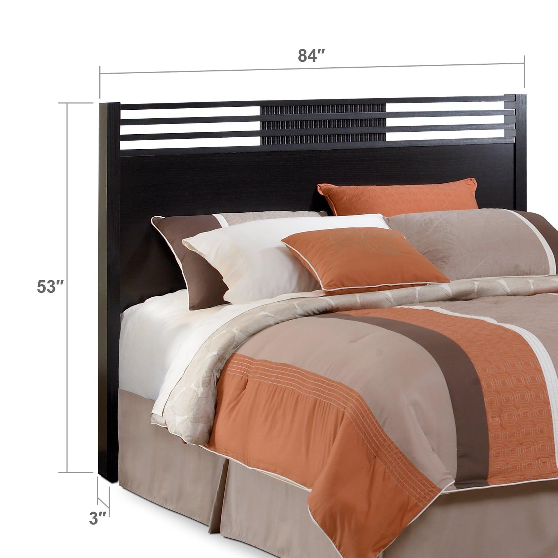 Bedroom Furniture - Bally King Headboard - Espresso