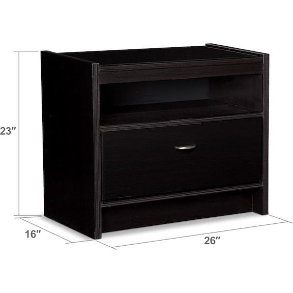Bedroom Furniture - Bally Nightstand - Black