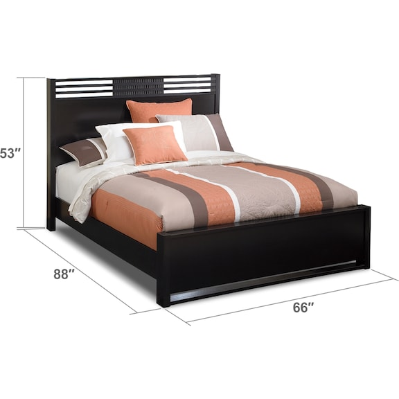 Bedroom Furniture - Bally Queen Bed - Black