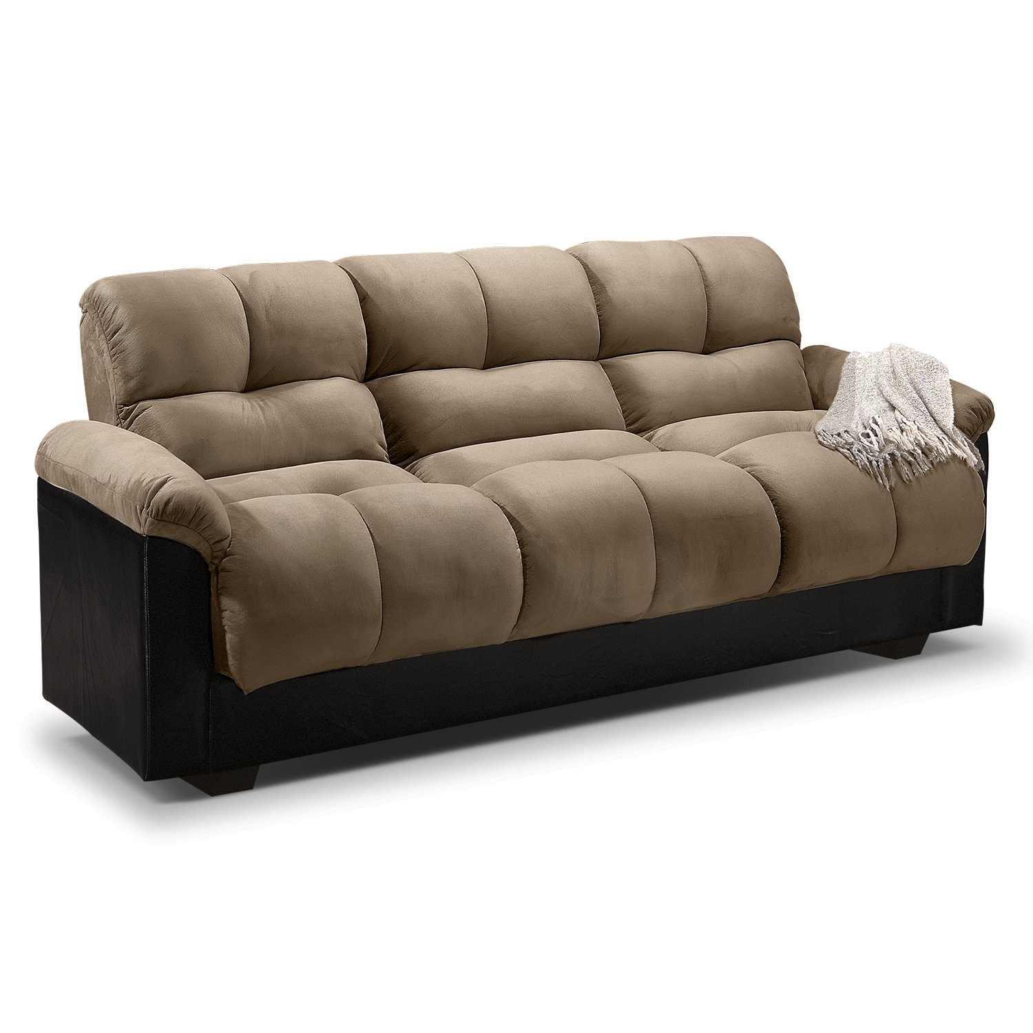 ara futon sofa bed with storage - hazelnut | american signature