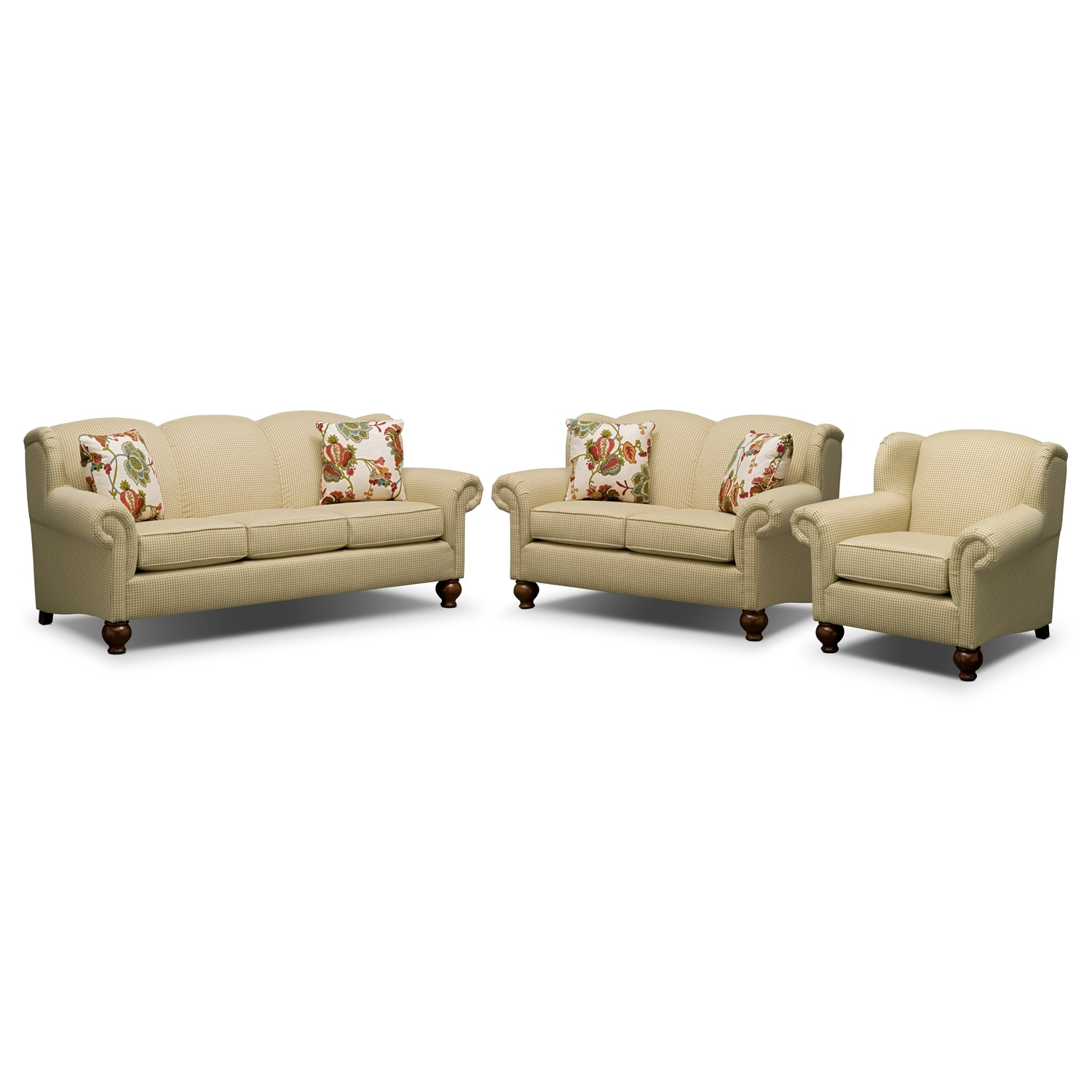 Living Room Furniture - Charlotte II 3 Pc. Living Room