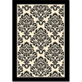 Terra Clementine 5' x 8' Area Rug - Black and White