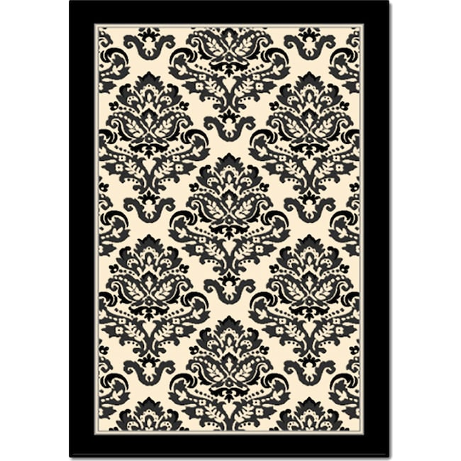 Rugs - Terra Clementine 5' x 8' Area Rug - Black and White