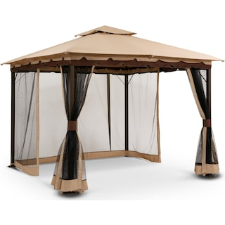 Bali Gazebo with Screen - Beige