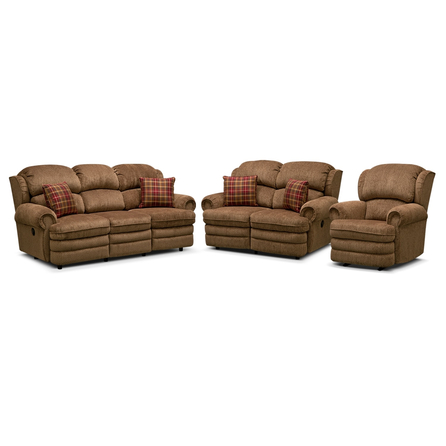 Living Room Furniture - Addison 3 Pc. Reclining Living Room