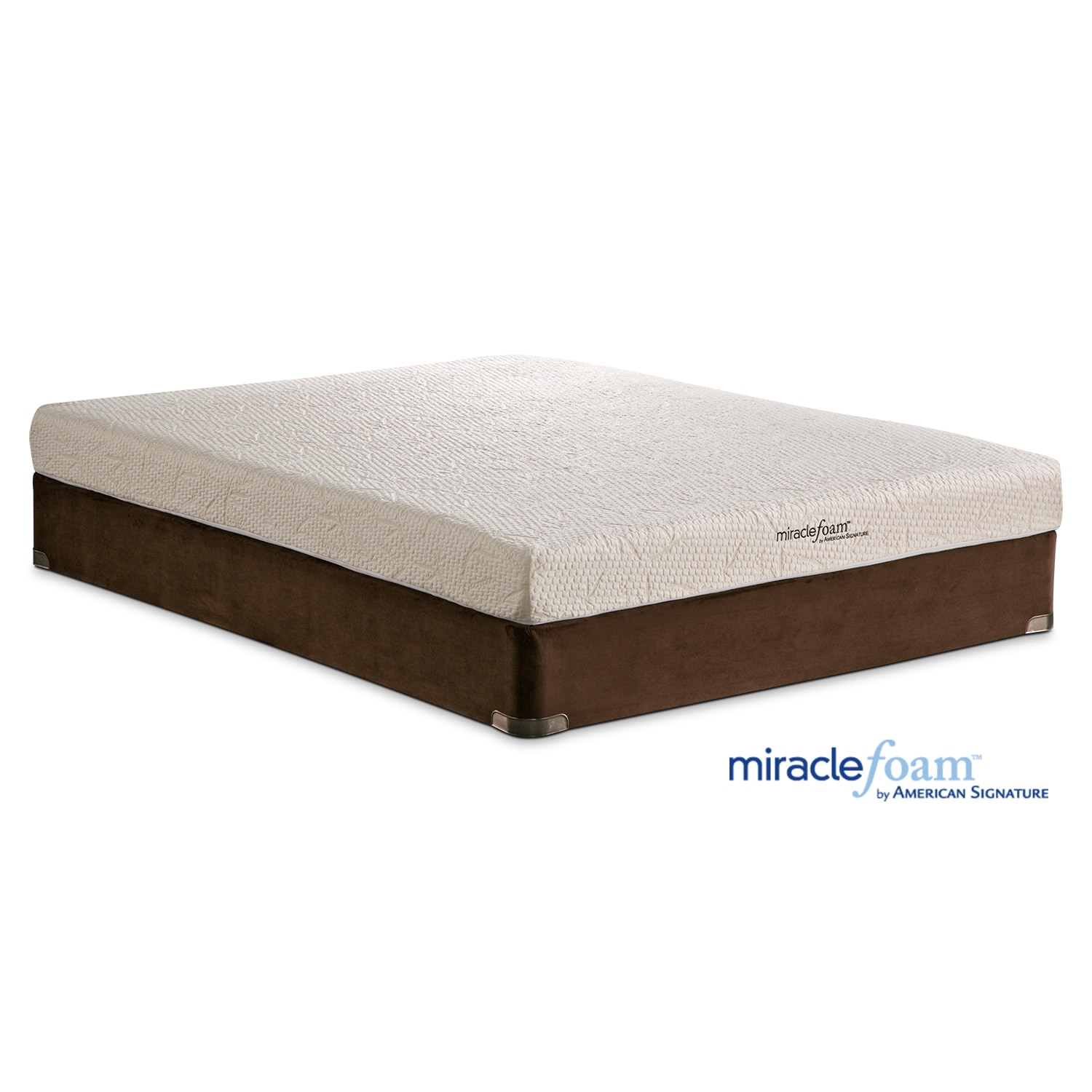 Mattresses and Bedding - Miracle Foam Renew II Queen Mattress & Foundation Set
