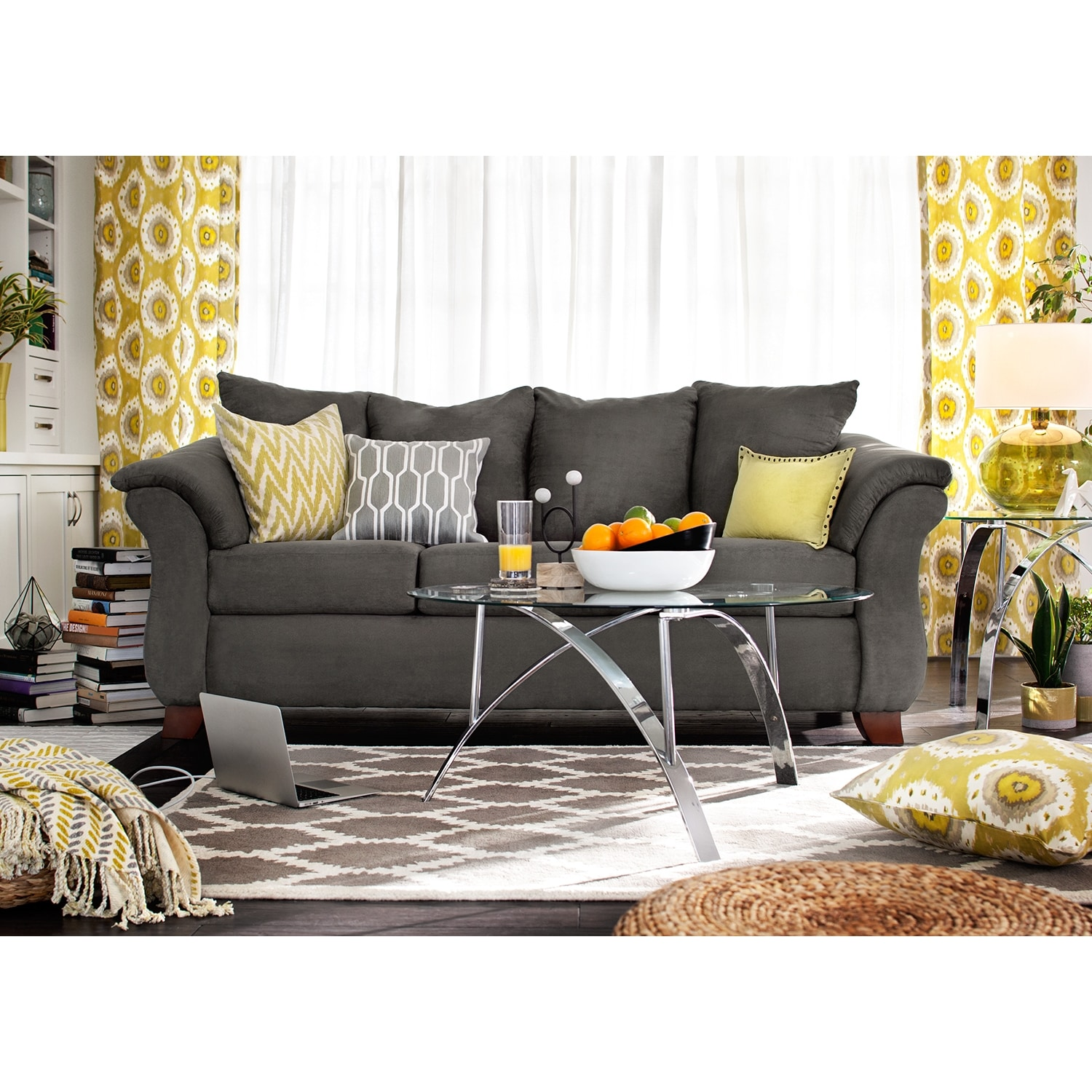 Adrian Sofa Graphite American Signature Furniture