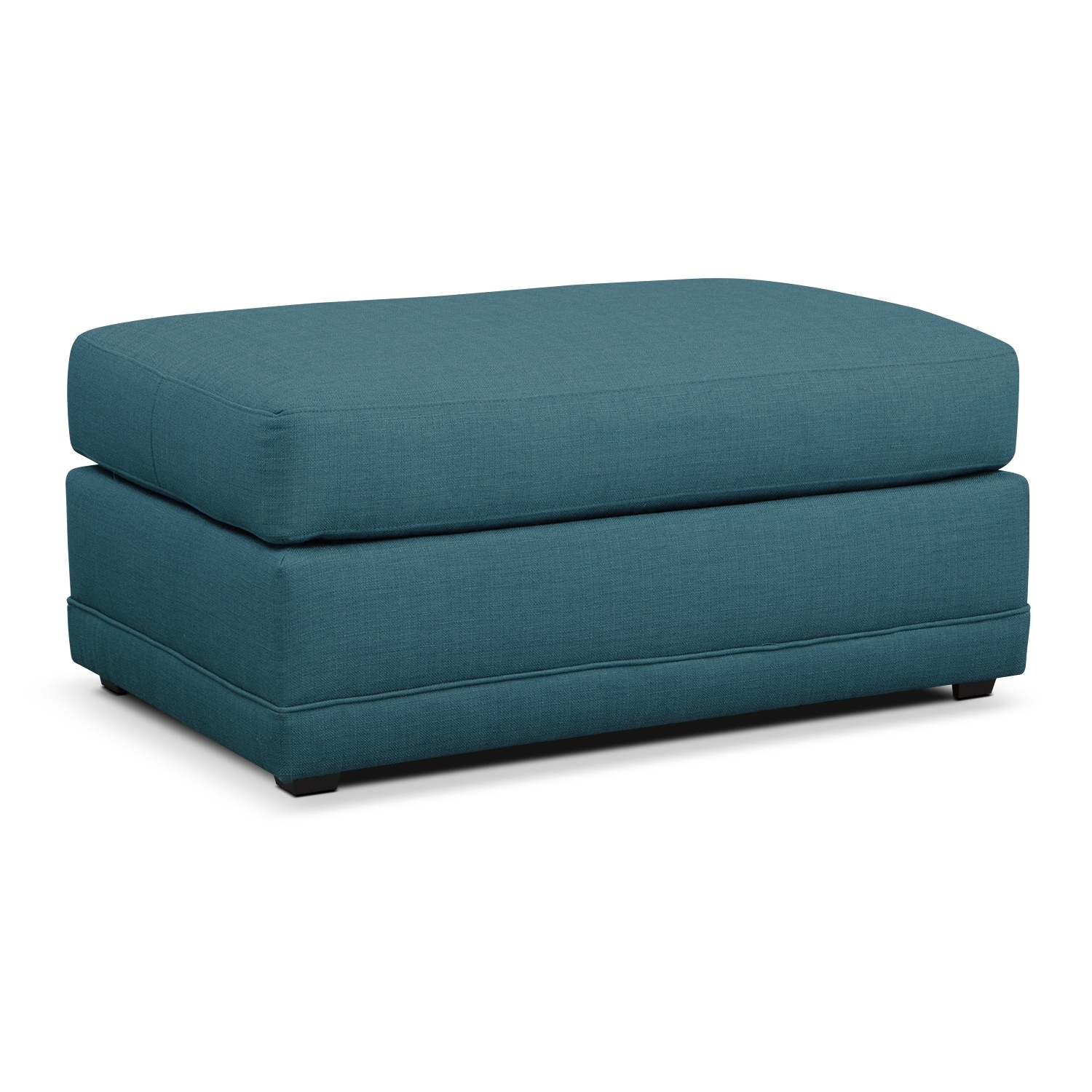 Living Room Furniture - Kismet Ottoman - Teal