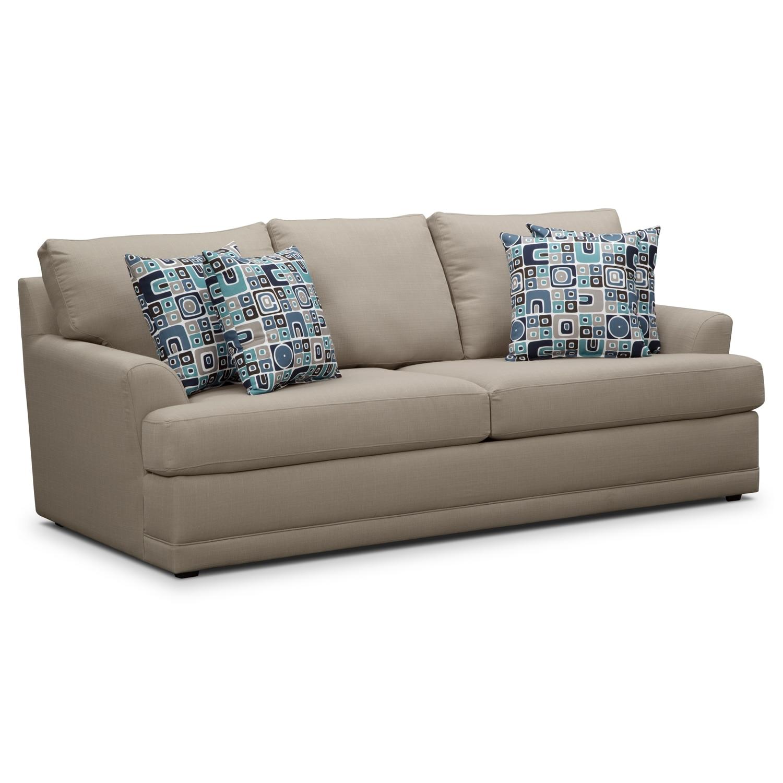 Living Room Furniture - Kismet Queen Innerspring Sleeper Sofa - Gray